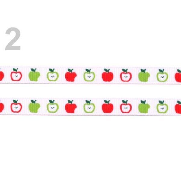 Ripsz grosgrain szalag - almák