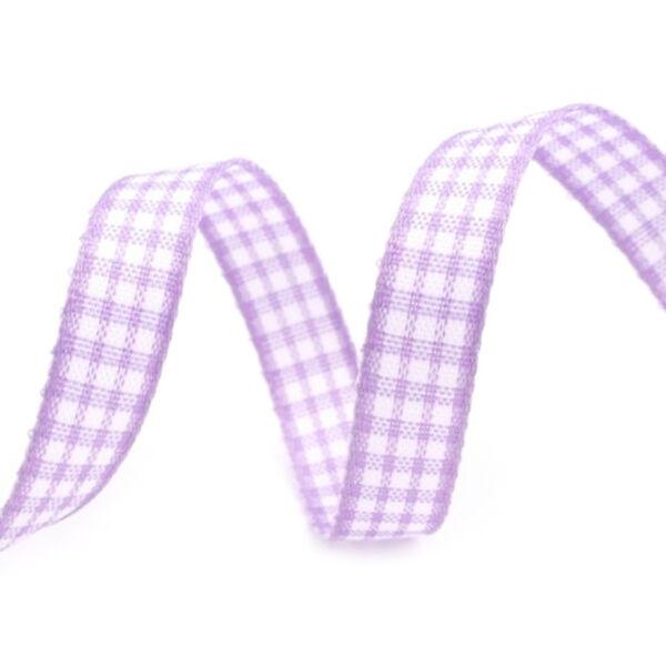 Fehér lila kockás szalag - 2m