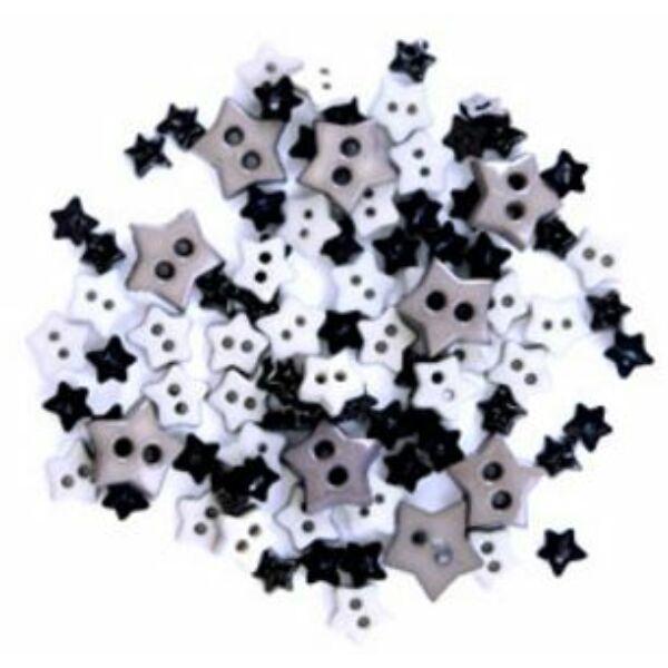 Csillag formájú mini gombok - mályva