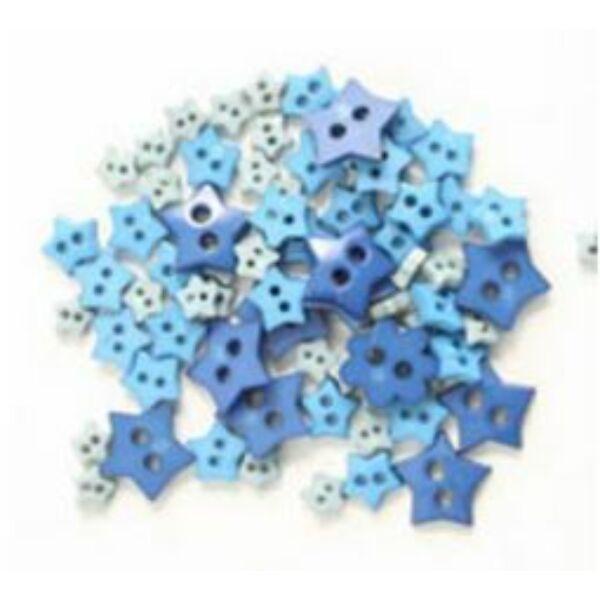 Csillag formájú mini gombok - kék