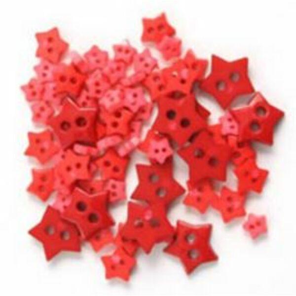 Csillag formájú mini gombok - piros