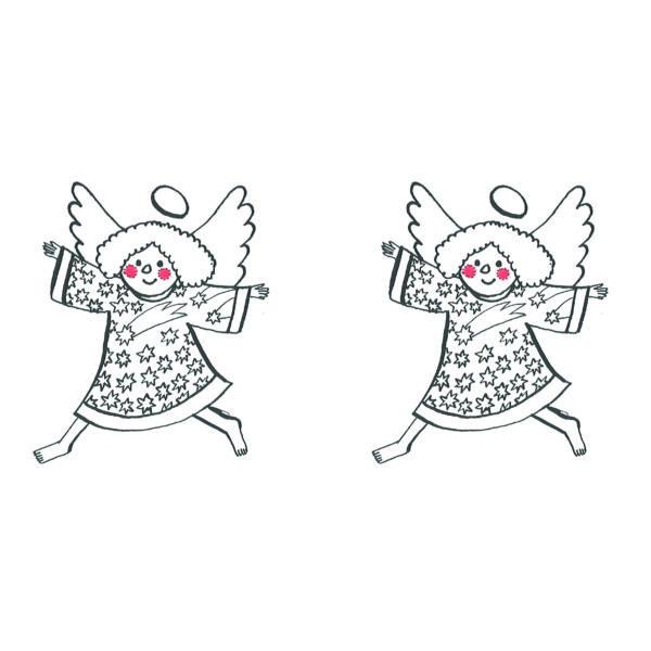 Karácsonyi mintás vászon panel - kis angyalok