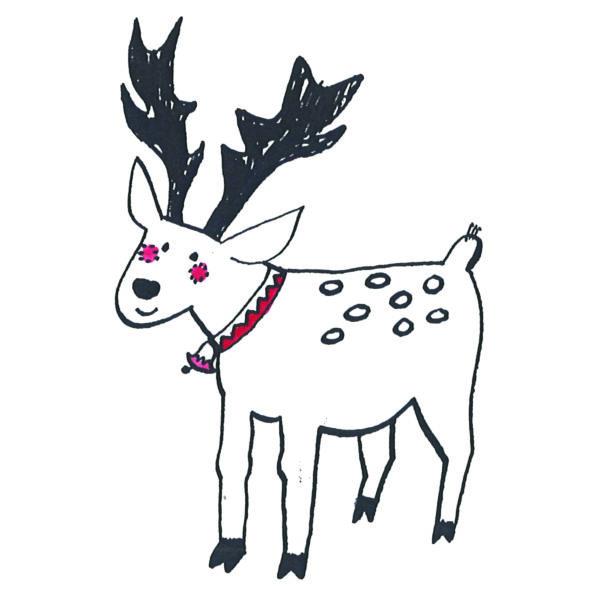 Karácsonyi mintás vászon panel - rénszarvas