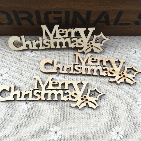 """Natúr fa - """"Merry Christmas"""" felirat fagyönggyel"""