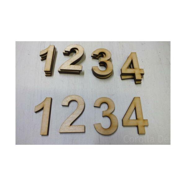 Natúr fa számok adventi dekorációhoz