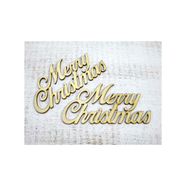 """Natúr fa - """"Merry Christmas"""" felirat - nagy"""
