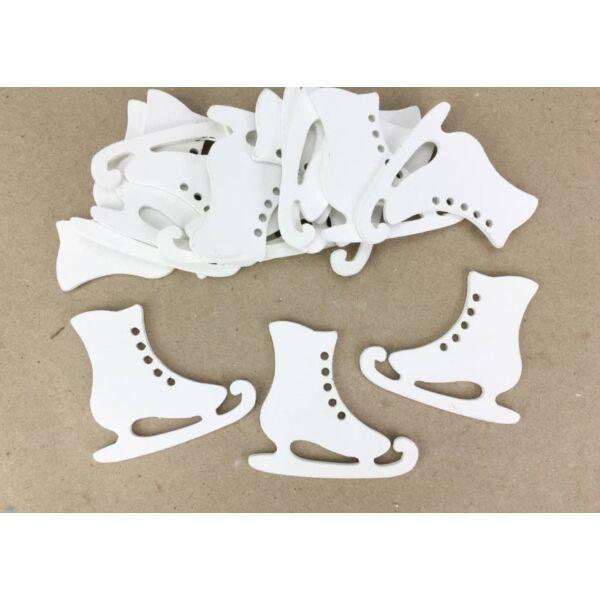 Fehér korcsolya 5cm - 5db
