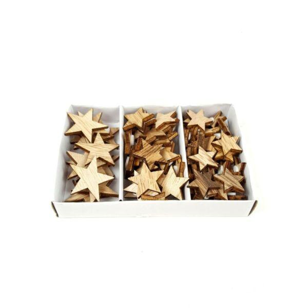 Öntapadós fa dekorációs csomag - csillagok - 10db