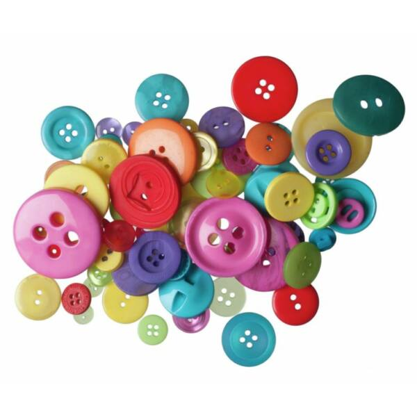 Trimits Bag of Craft Buttons - Brights