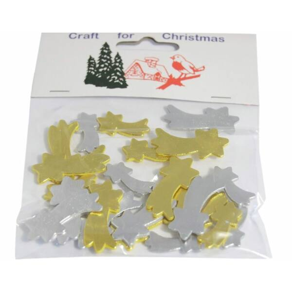 Fa furnér dekorációs csomag - vegyes hullócsillag