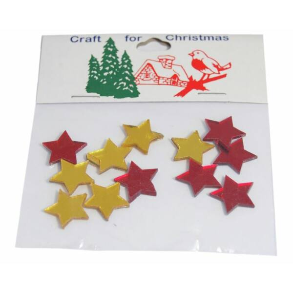 Tükrös műanyag karácsonyi dekorációs csomag - csillag