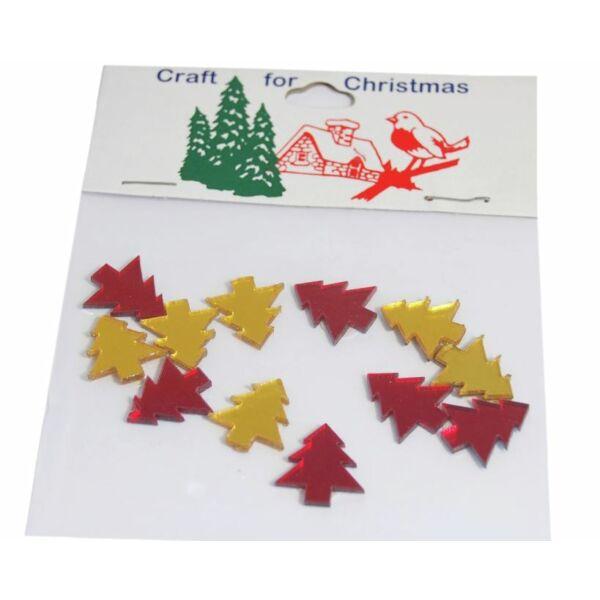 Tükrös műanyag karácsonyi dekorációs csomag - fenyőfa