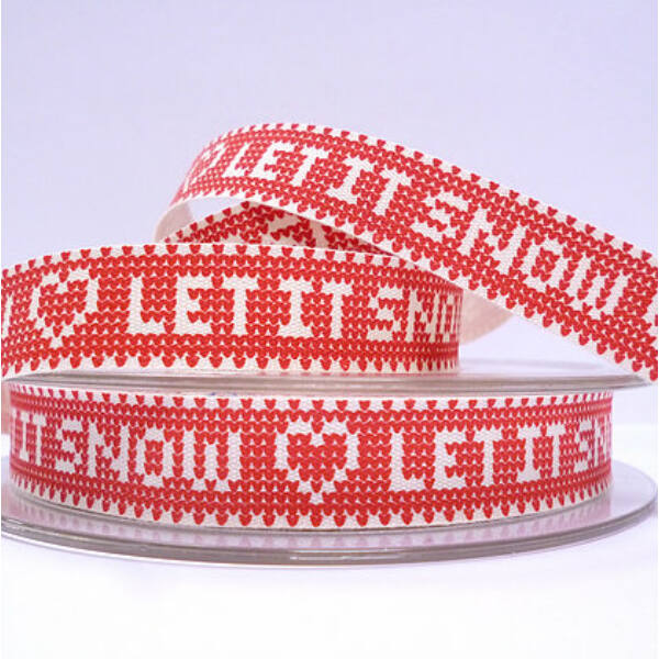 100% pamut szalag csomag - Knitted Let it Snow