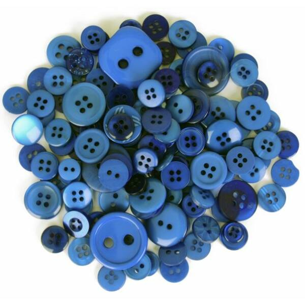 Trimits Bag of Craft Buttons - Dark Blue