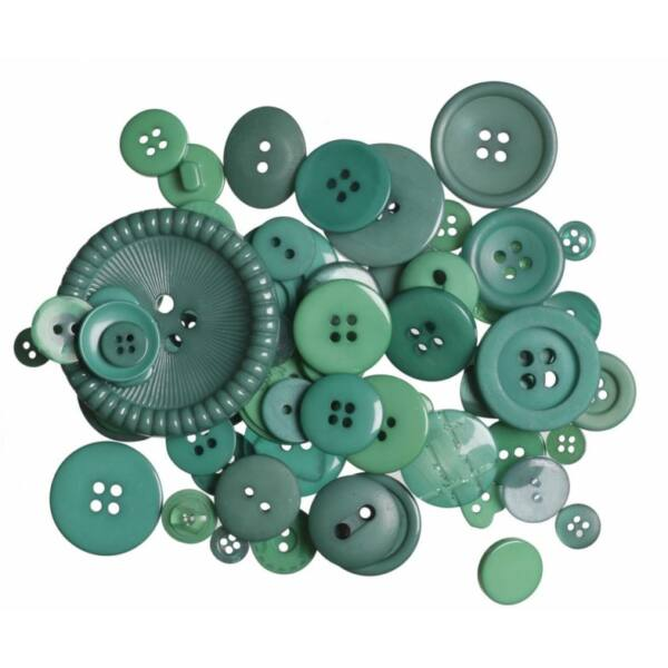 Trimits Bag of Craft Buttons - Green