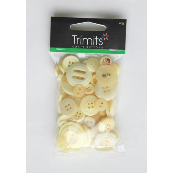Trimits Bag of Craft Buttons - Cream