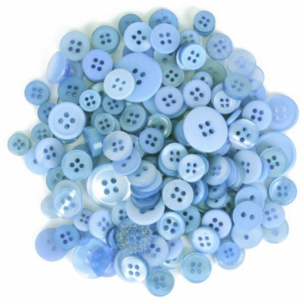 Trimits Bag of Craft Buttons - Light Blue