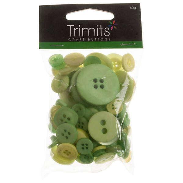 Trimits Bag of Craft Buttons - Light Green