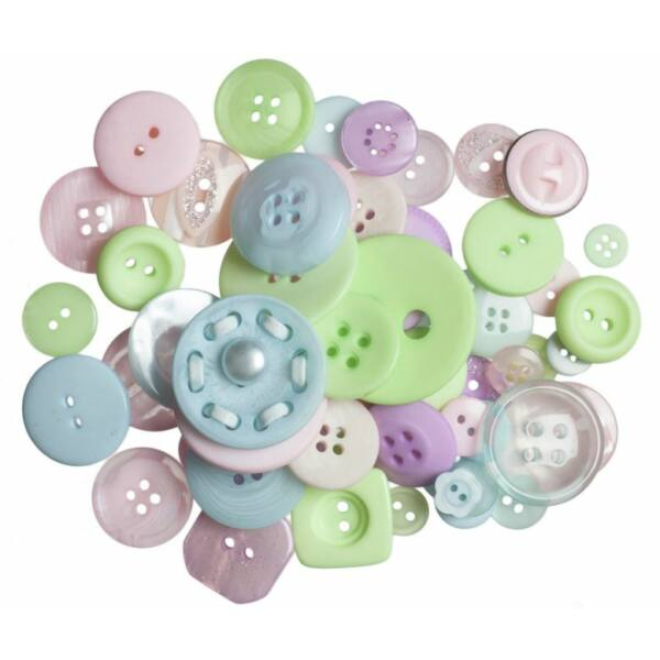 Trimits Bag of Craft Buttons - Pastels