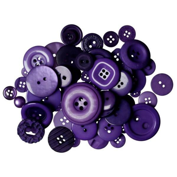 Trimits Bag of Craft Buttons - Dark purple