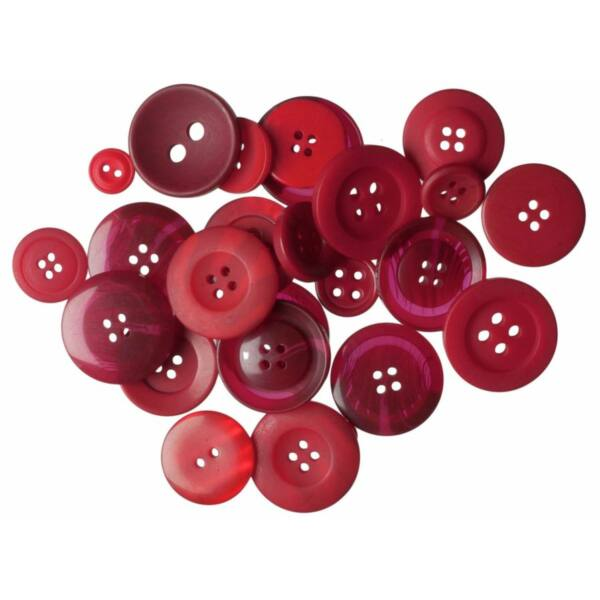 Trimits Bag of Craft Buttons - Red