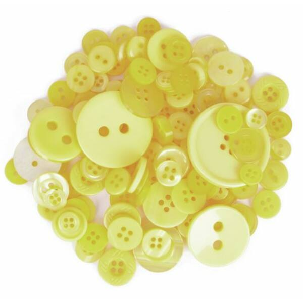 Trimits Bag of Craft Buttons - Yellow