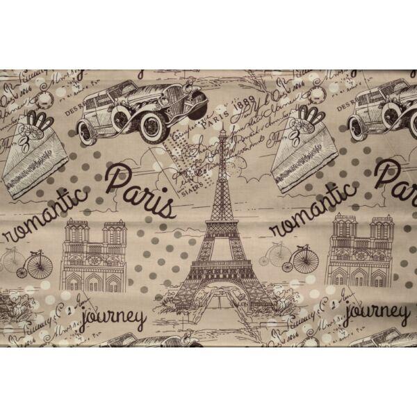 Párizs mintás pamutvászon