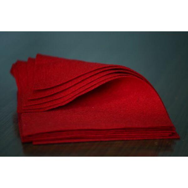 Pihe - puha gyapjúfilc lap - piros