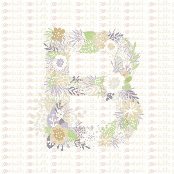 Mintás barkácsfilc - varázslatos unikornis - M széria - B betű