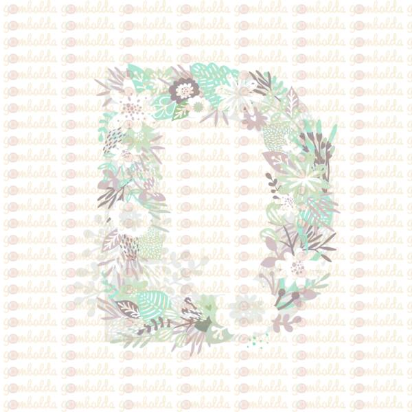 Mintás barkácsfilc - varázslatos unikornis - M széria - D betű