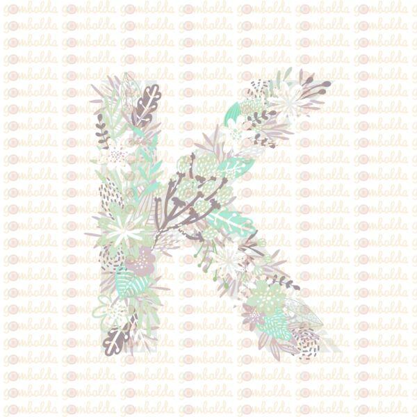 Mintás barkácsfilc - varázslatos unikornis - M széria - K betű