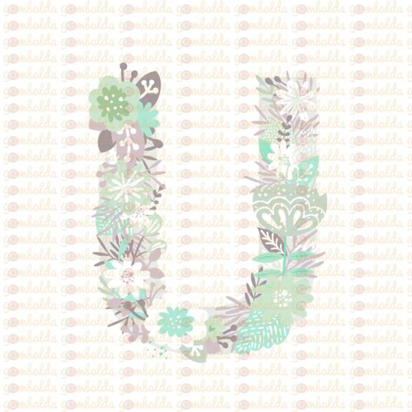 Mintás barkácsfilc - varázslatos unikornis - M széria - U betű