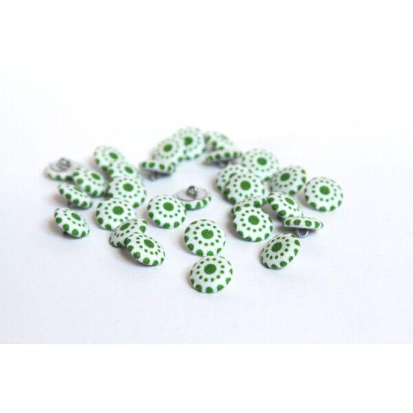Textillel bevont gombcsomag - zöld mintás