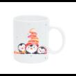 Pulee kerámia bögre névvel - Winter Friends - pingvinek