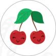Ovis jel mintás barkácsfilc - cseresznye