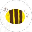 Ovis jel mintás barkácsfilc - méhecske