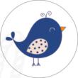 Ovis jel mintás barkácsfilc - kék madár