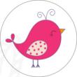 Ovis jel mintás barkácsfilc - pink madár