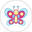 Ovis jel mintás barkácsfilc - pillangó