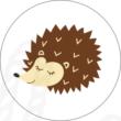 Ovis jel mintás barkácsfilc - süni