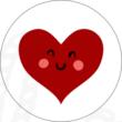 Ovis jel mintás barkácsfilc - szív
