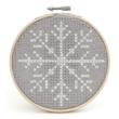 Csináld magad! keresztszemes karácsonyi készlet kerettel - Snowflake