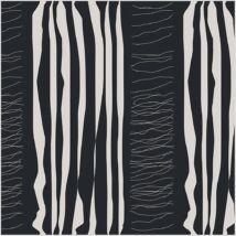Glad Design pamutvászon - fekete csíkos - 1m