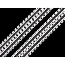 Fehér csipkés gumi - 18mm széles