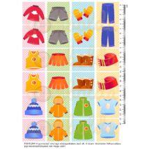 Mintás barkácsfilc - memória játék alap - ruhák