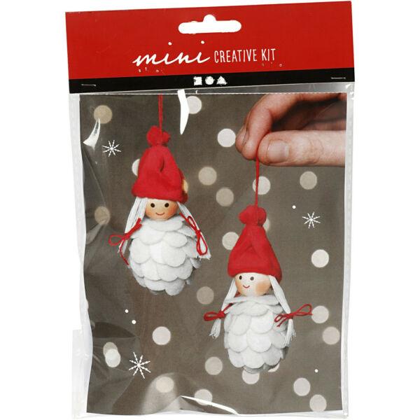 Mini Creative Kit - Csináld magad! karácsonyi manólányok