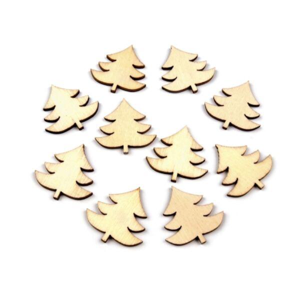 Natúr fenyőfa formájú furnér dekorációs csomag - 23mm - 10db