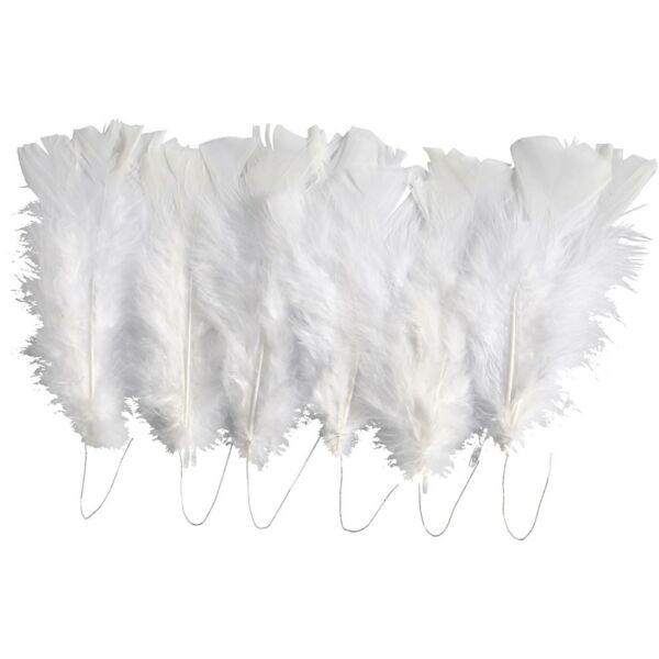 Fehér madártoll csomag