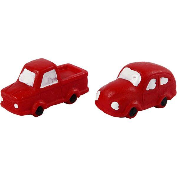 Karácsonyi piros autó szett - 2db