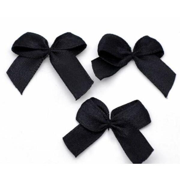 Fekete szatén masni csomag